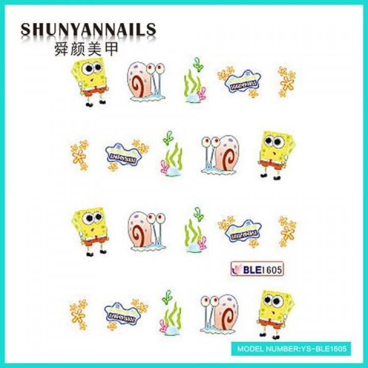 Наклейки для ногтей Мультяшки, Губка Боб, Sponge Bob