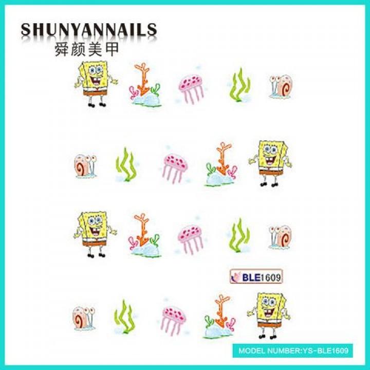 Наклейки для ногтей Губка Боб, Sponge Bob, мультяшки