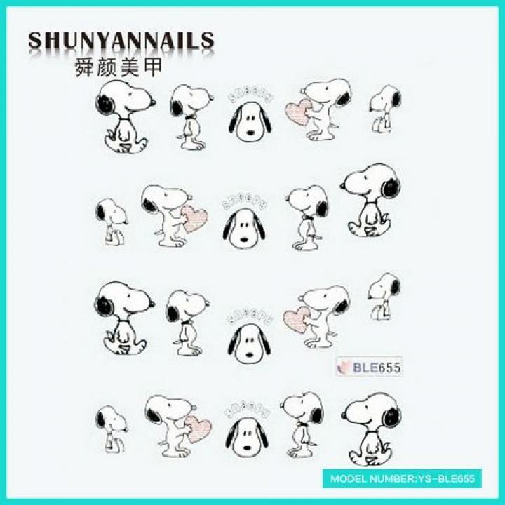 Наклейки для ногтей Животные, собачка, пес