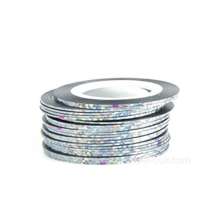 Нить для дизайна ногтей Голографическое Серебро