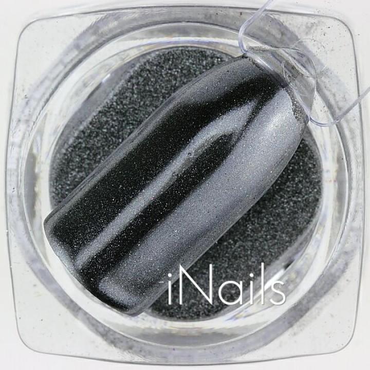 Зеркальная пудра, пигмент Chrome для дизайна ногтей №15 серая