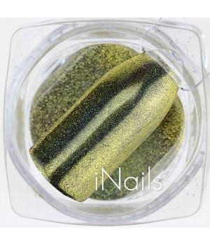 Зеркальная пудра для ногтей №01 Chrome золото