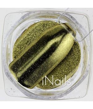 Зеркальная пудра для ногтей №03 Chrome золото