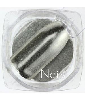 Зеркальная пудра для ногтей №13 Chrome серебро