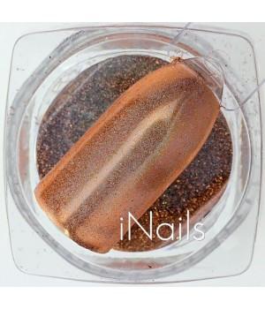 Зеркальная пудра для ногтей №20 красное золото голографическая